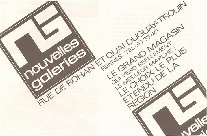 Encart publicitaire pour Les Nouvelles Galeries, 1969. 12 C 1.