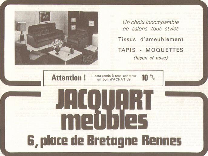 Encart publicitaire pour la maison Jacquart, place de Bretagne, 1969. 12 C 1.